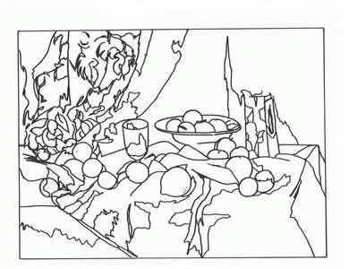 Famous art works colouring sheets could get kids to colour using