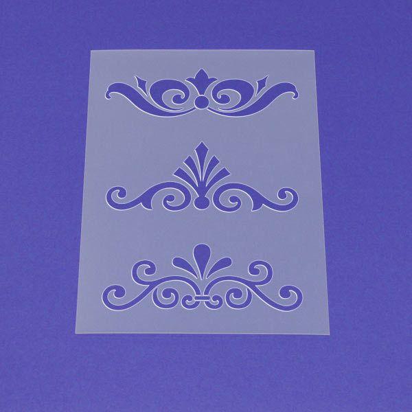 schablone victorian ornament set  mo43  schablonen