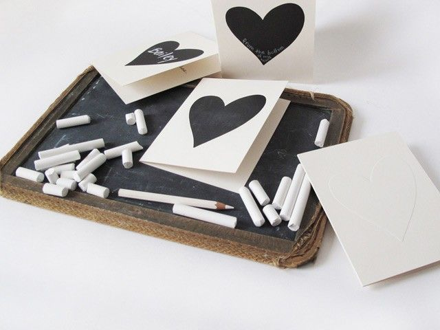 Chalk cards- easy to DIY for other shapes