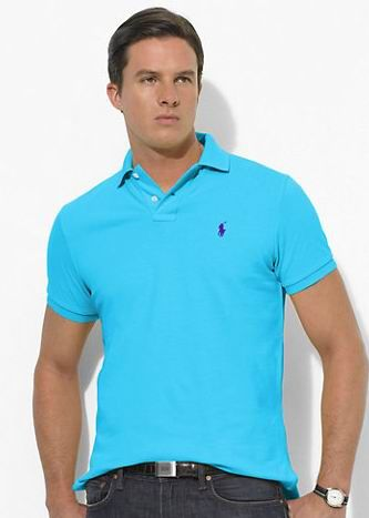 Ralph Lauren Men's Classic-Fit Mesh Short Sleeve Polo Shirt Delray Blue  http:/