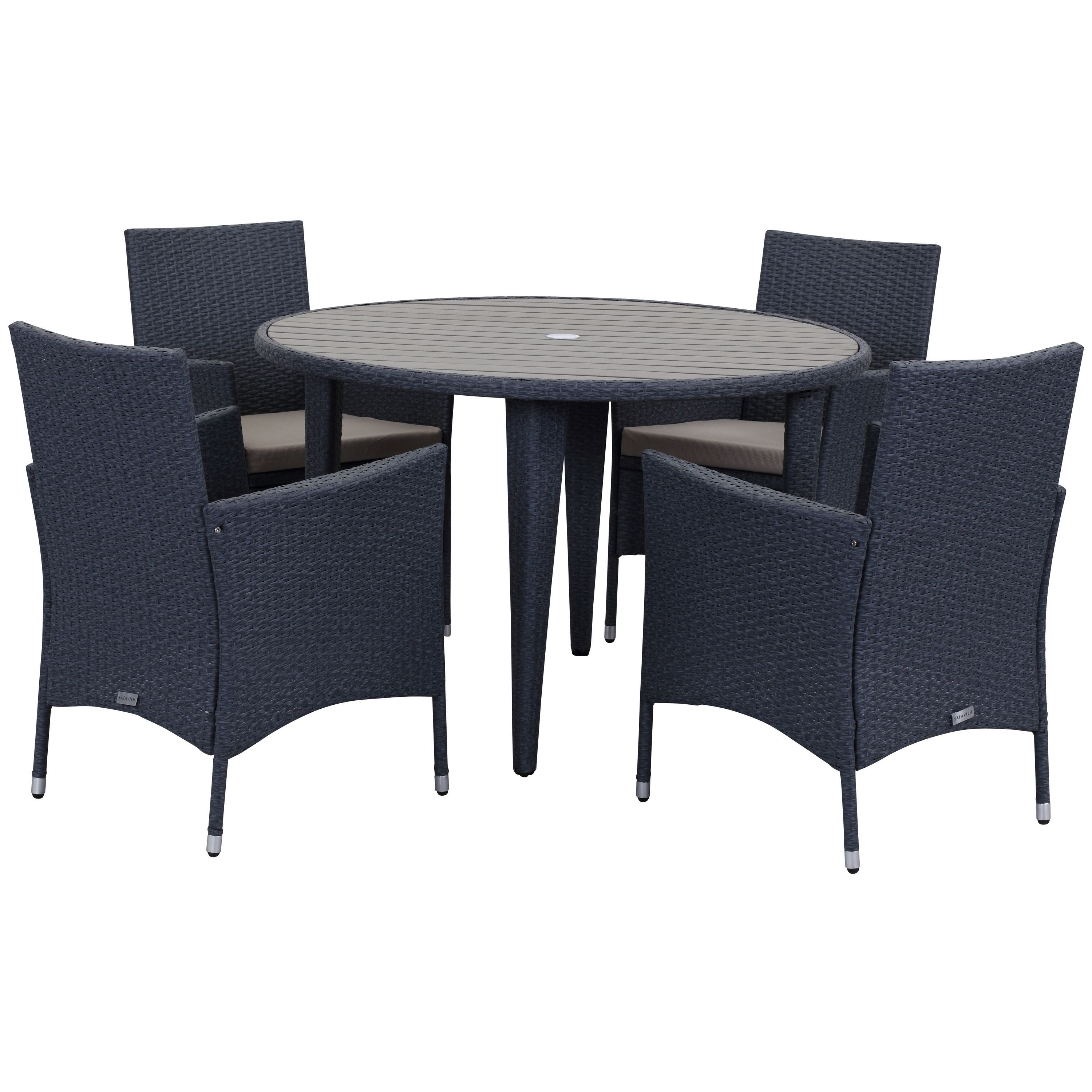 Safavieh Outdoor Living Cooley Titanium Sand Dining Set 5 piece