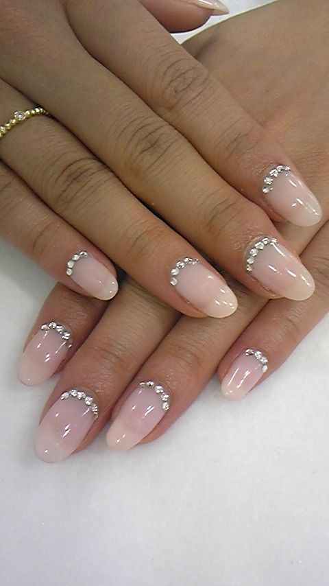 I Just Tried This Idea With A Copper Colour Nail Polish And Metallic Gems Looks Awesome My Friend Told Me That Unlike Nails The On End