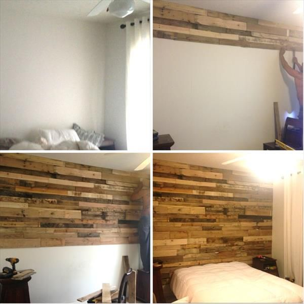 Diy Pallet Wall Makeover For Bedroom 99 Pallets Diy Pallet