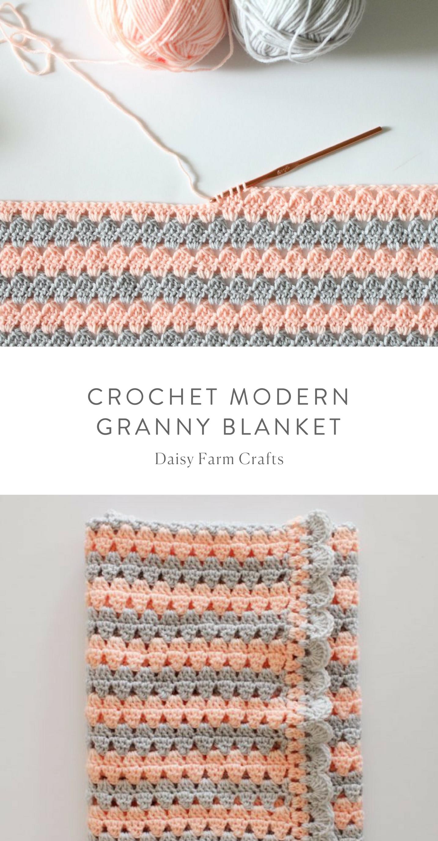 Free Pattern - Crochet Modern Granny Blanket   Proyectos que debo ...
