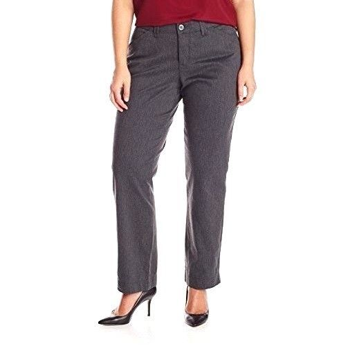 Lee Womens Petites Plus Comfort Fit Kassidy Straight Pants Charcoal size  24W NEW | Twill pants, eBay and Petite