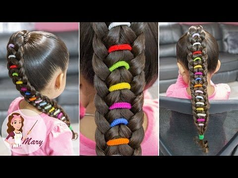Trenza Arcoiris Peinado Facil Para Escuela Peinado Para Ninas Rainbow Braid Youtube Hair Styles Beautiful Hairstyle For Girl Rainbow Braids