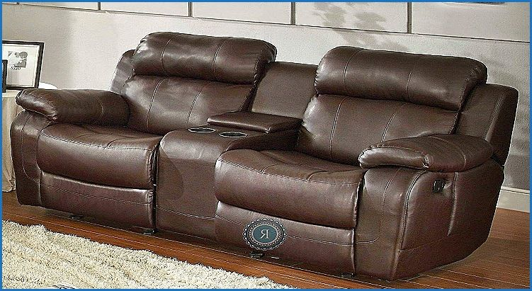 Luxury Leather Reclining Sofa With Center Console Reclining Sofa Leather Reclining Sofa Console Furniture