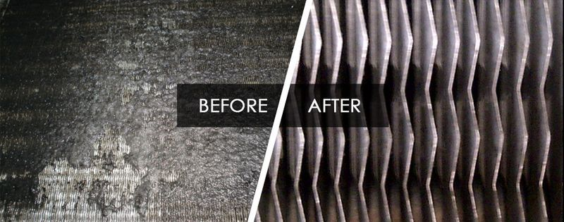 Before and after coil cleaning is part of hvac