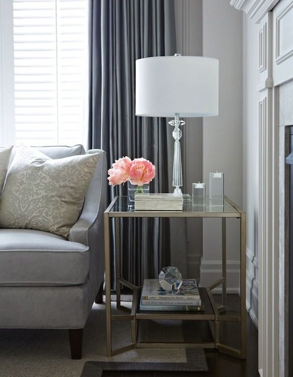 gray side tables living room