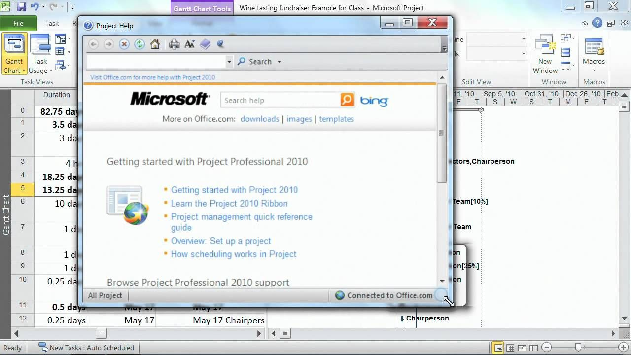 Microsoft project professional 2010 tutorial getting help within microsoft project professional 2010 tutorial getting help within micros baditri Gallery