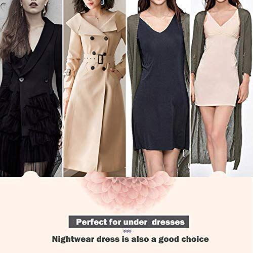 bfba3d333f Joyshaper Womens Full Slips for Under Dresses Long Cami Slip Dress Seamless  Shapewear Slip V Neck