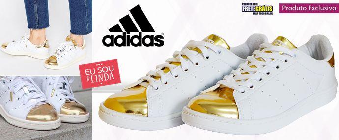 cf2fee1fedb Tpm de Ofertas   Maior Site de Oferta Feminina Tênis Adidas Stam Smith  Dourado - De 500