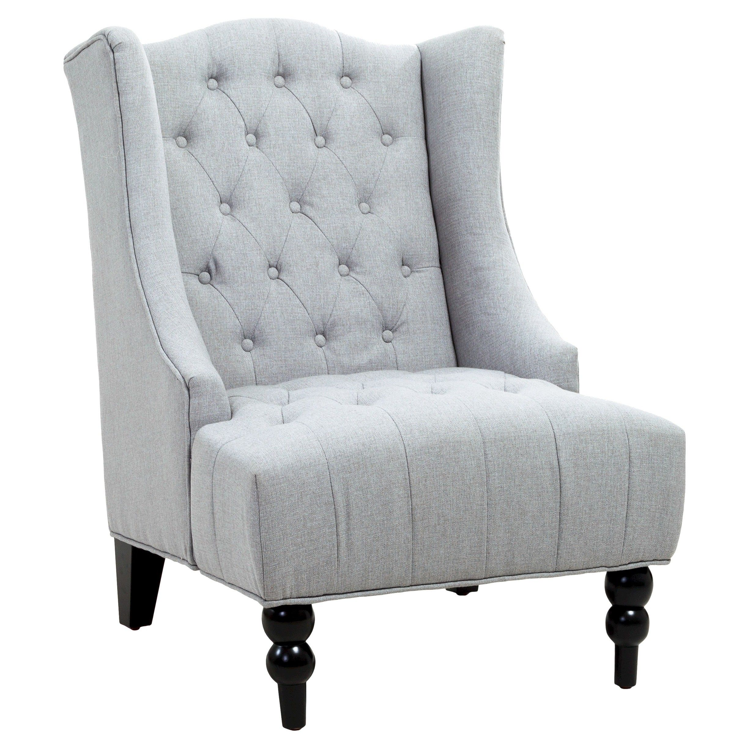 Christopher Knight Home Upholstered Chair Gray Tar