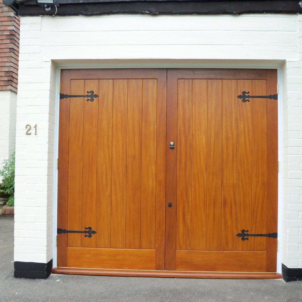 Unique Wood Double Garage Door