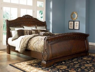 North Shore King Sleigh Bed In Dark Wood Special Sleigh Bedroom Set King Sleigh Bed Bed Design