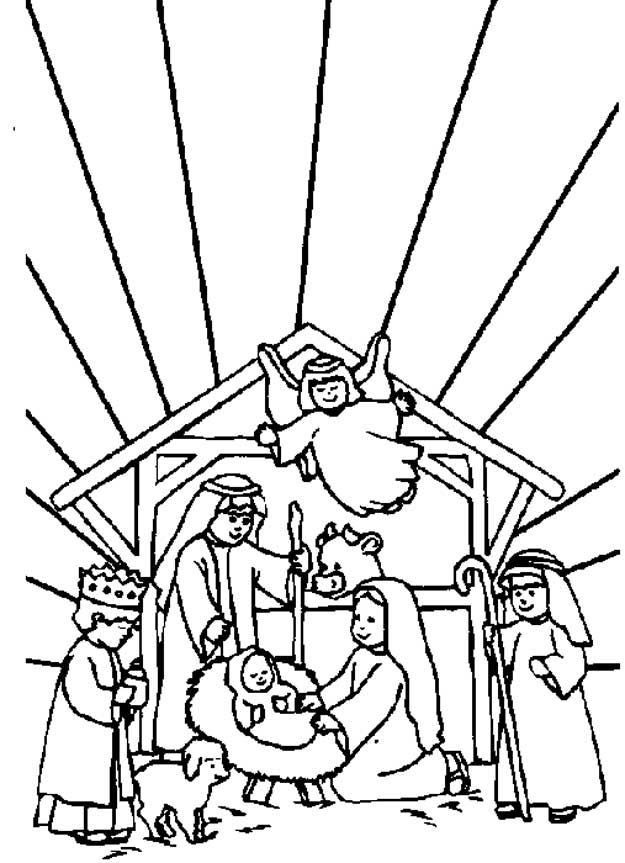 Coloring Page Bible Christmas Story Kids N Fun Nativity Coloring Pages Christmas Coloring Sheets Nativity Coloring