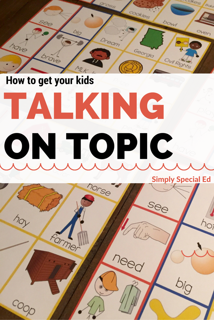 Is Special Education In Trouble >> Topic Boards To Get Kids Talking Preschool Elementary Autism