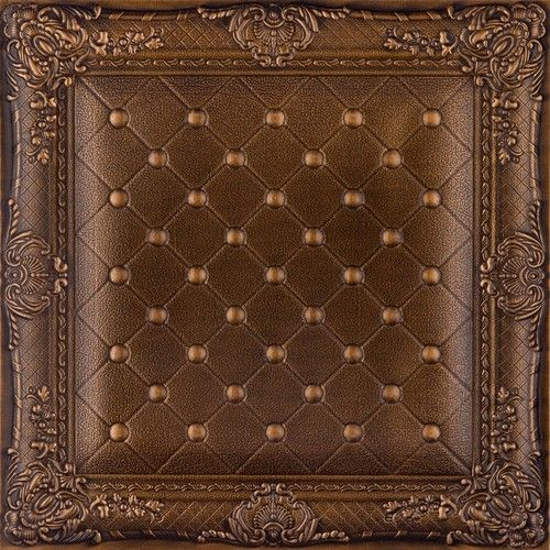 This Is Wallpaper DCT LRT03 Faux Leather Ceiling Tile Vintage