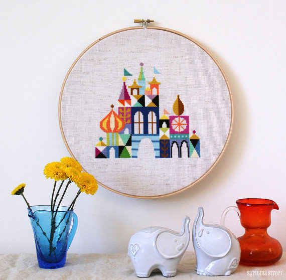 Magic Kingdom Embroidery | Create | Pinterest | Bordado, Punto de ...