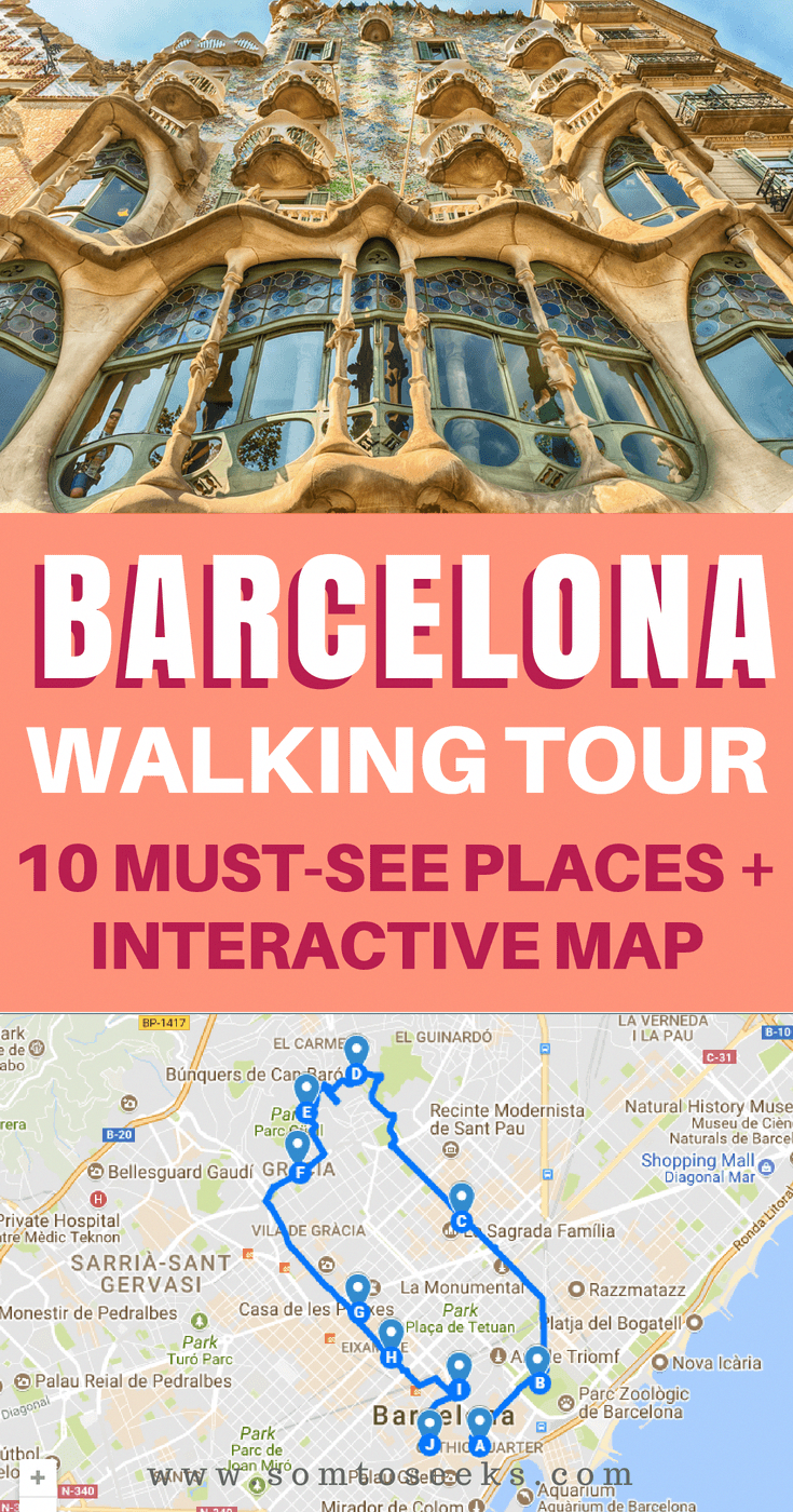 Barcelona Spain travel Walking tour of 10 must see places with
