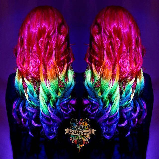 Rainbow Blacklight Hair Anyone Arcticfoxhaircolor