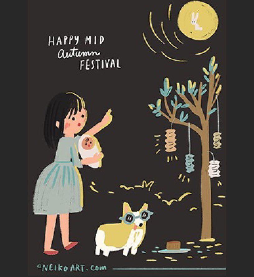 Happy mid autumn festival everyone Enjoy the 🌕 full moon