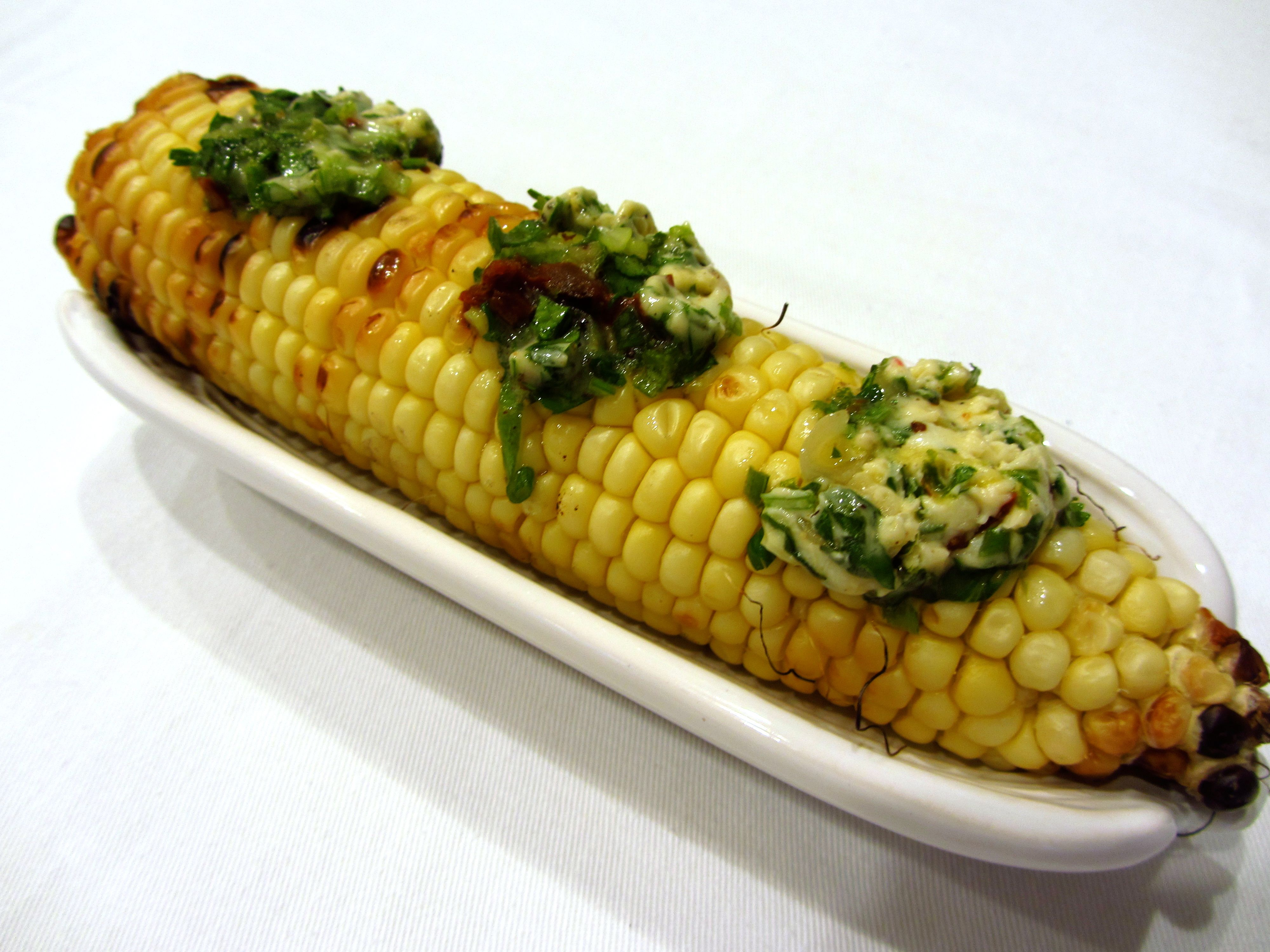 Grilled corn with cilantro compound butter chef kerri