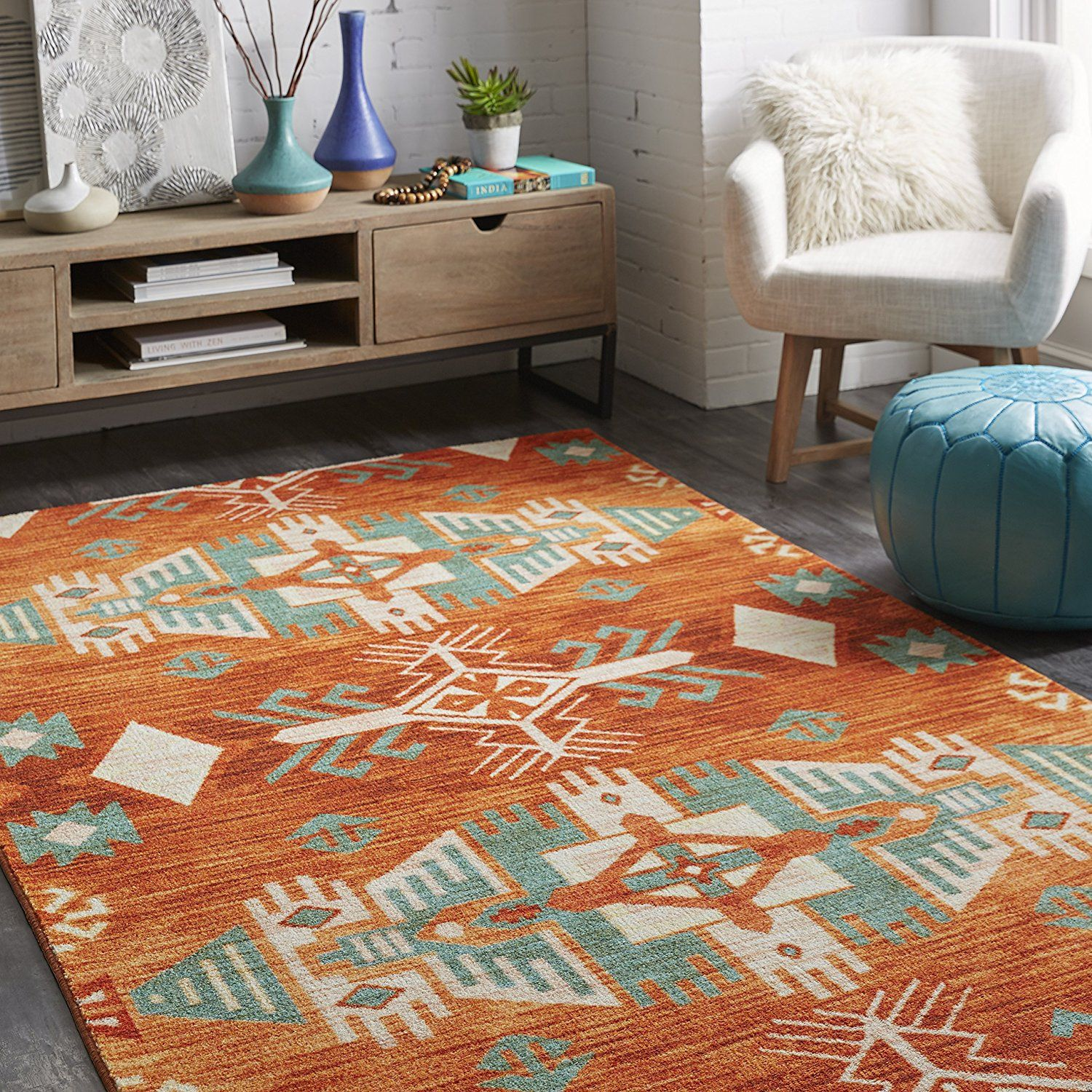 Mohawk Home S Eidenau Sunset Aztec Rug Brings Boho To Your Home
