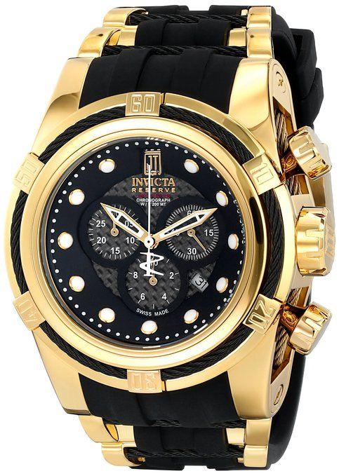 Invicta Jason Taylor 12955 Bolt Zeus Chronograph Black Carbon Fiber Dial  Polyurethane Watch  Invicta  Amazon.ca  Watches ada5e0d44d8