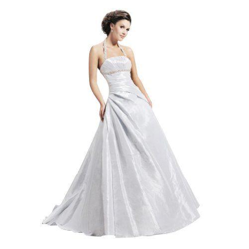 GEORGE BRIDE A-Line Halter Asymmetrical Waist Beaded Under Bust Court Train Taffeta Wedding Dress George Bride, http://www.amazon.com/dp/B008YQK9X0/ref=cm_sw_r_pi_dp_99Vfrb0XWZ7Q9
