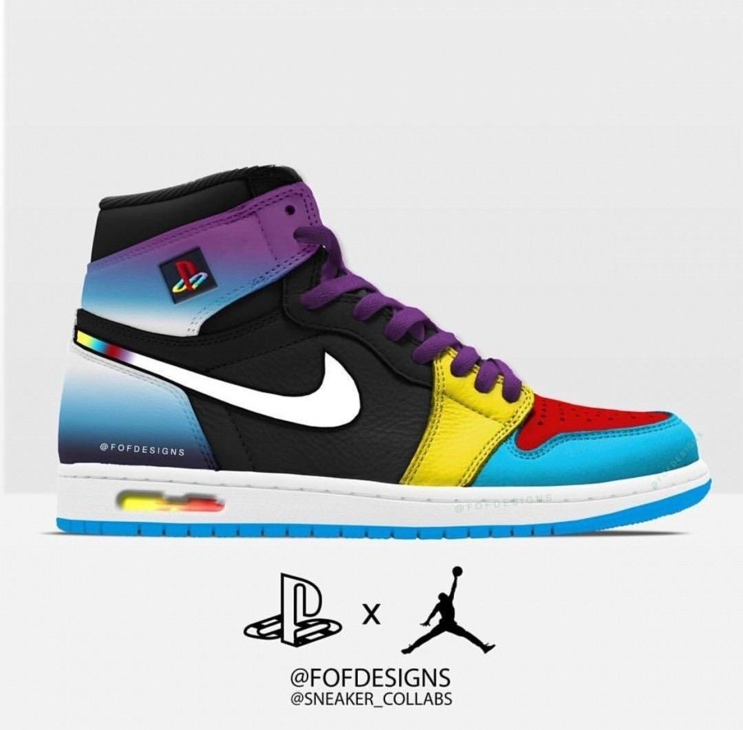Would you cop this playstation x jordan collab? | Trendy shoes ...