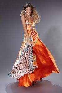 Vestidos de noche color tiffany