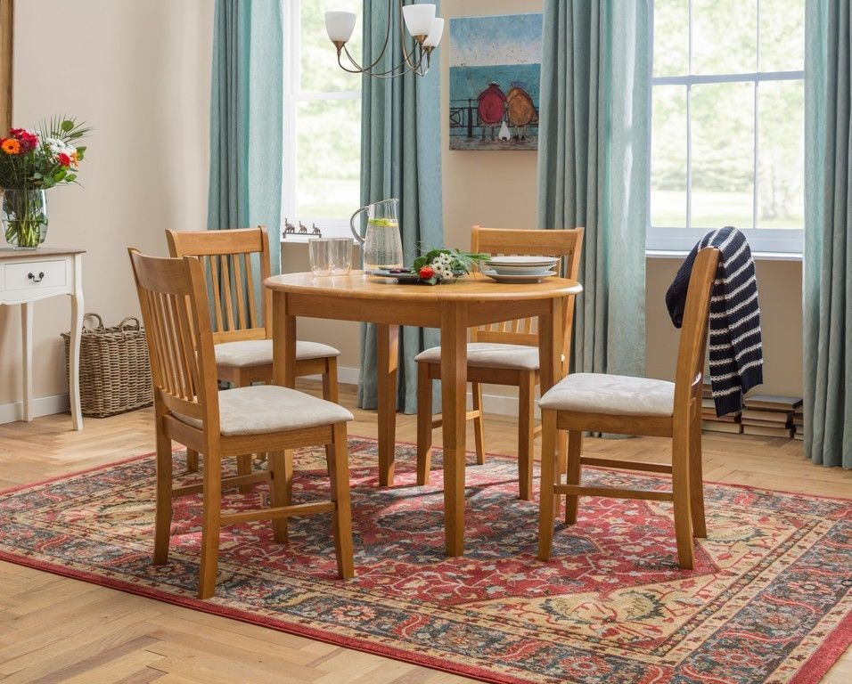 Dining Table Chairs Set Extendable Wooden Kitchen Room Upholstered