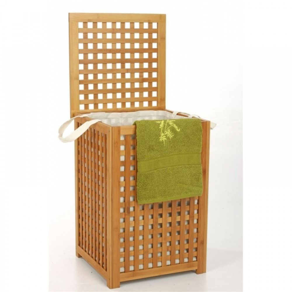 Panche Di Legno Ikea.Panca Contenitore Biancheria Bagno Lavanderia In Legno