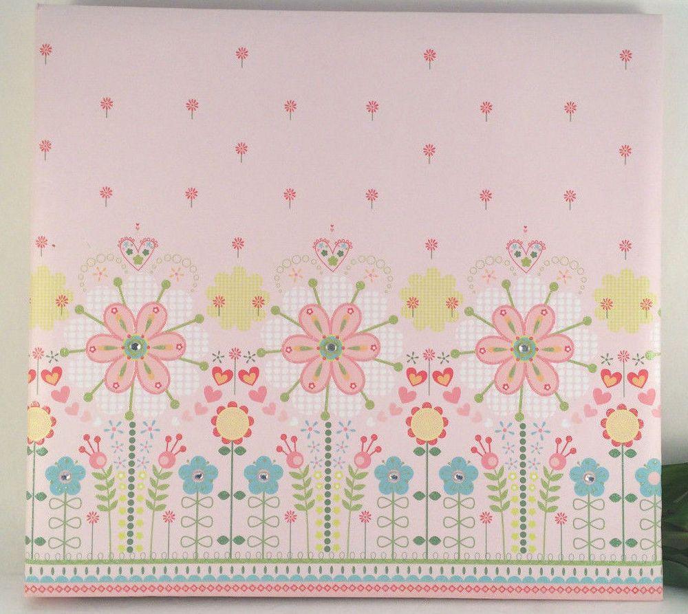 Pink Floral Rhinestone12 X 12 Scrapbook Photo Album Memory Book SandyLion Jewels #Sandylion