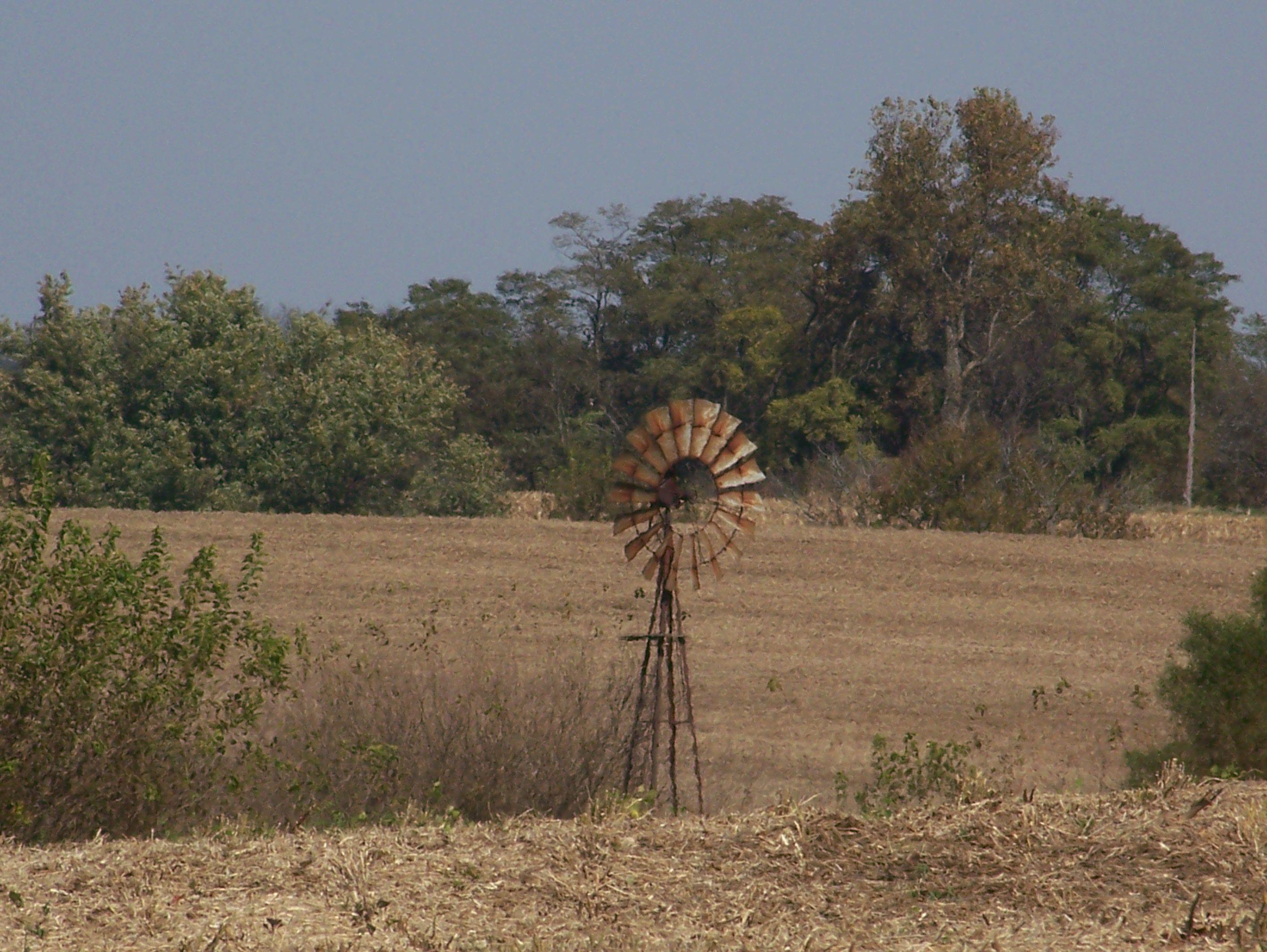 Windmill near Chandlerville, Illinois Cass county