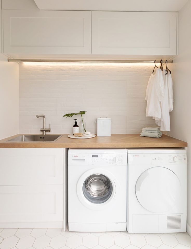 This stylish laundry will make you want to do the washing