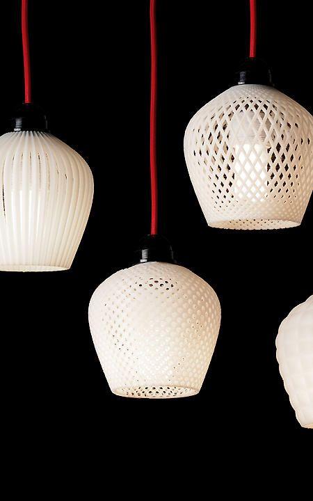 A Dozen Elegant 3 D Printed Lamp Shades Impression 3d Lampe Murale Lampe 3d Et Impression 3d