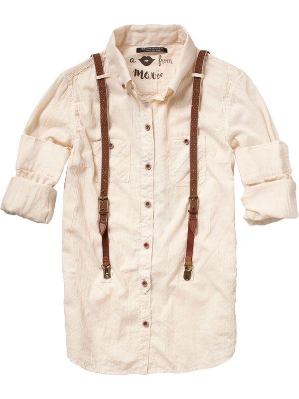 Worker Styled Shirt - Maison Scotch #fashion