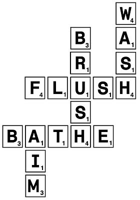 Maybe In Kids Bathroom Put Scrabble Tiles A Little Frame Or Mount Them