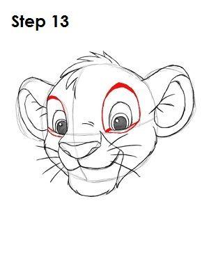 how to draw a cartoon lion flexing