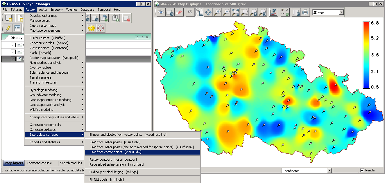 GRASS (Geographic Resources Analysis Support System), is a