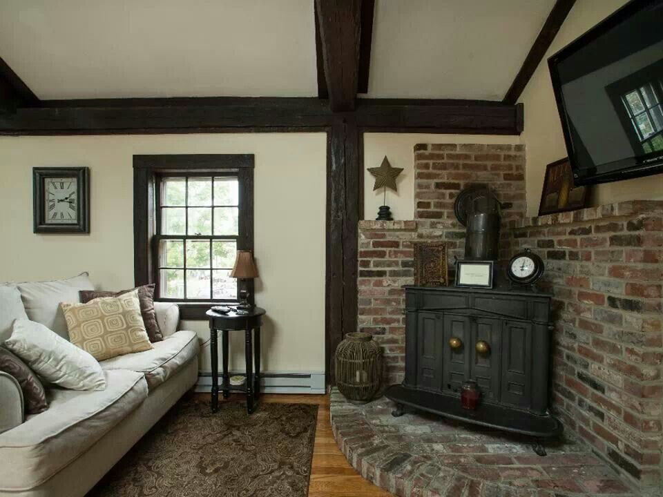 I Like The Corner Wood Burning Stove And Surround Home Projects