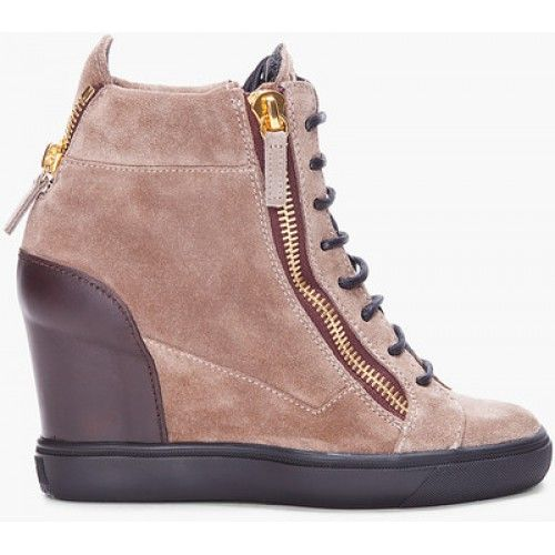 GIUSEPPE-ZANOTTI-Taupe-Lorenz-Wedge-Sneakers-femme-montante-compensee 3240ef093bc4