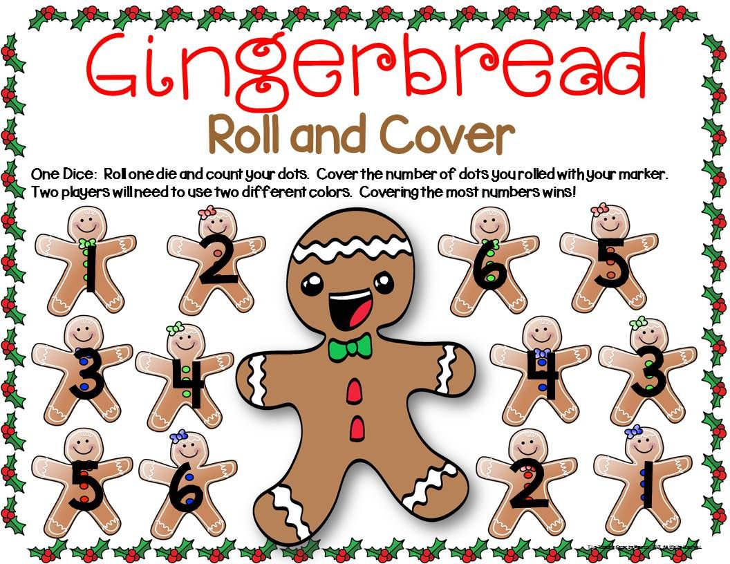 Gingerbread Math Center Dice Games For K 2nd Special