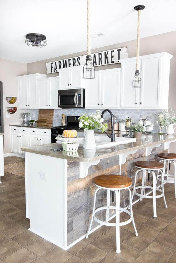 34 nice kitchen layouts with peninsula with images farmhouse kitchen inspiration kitchen on kitchen decor ideas farmhouse id=58177