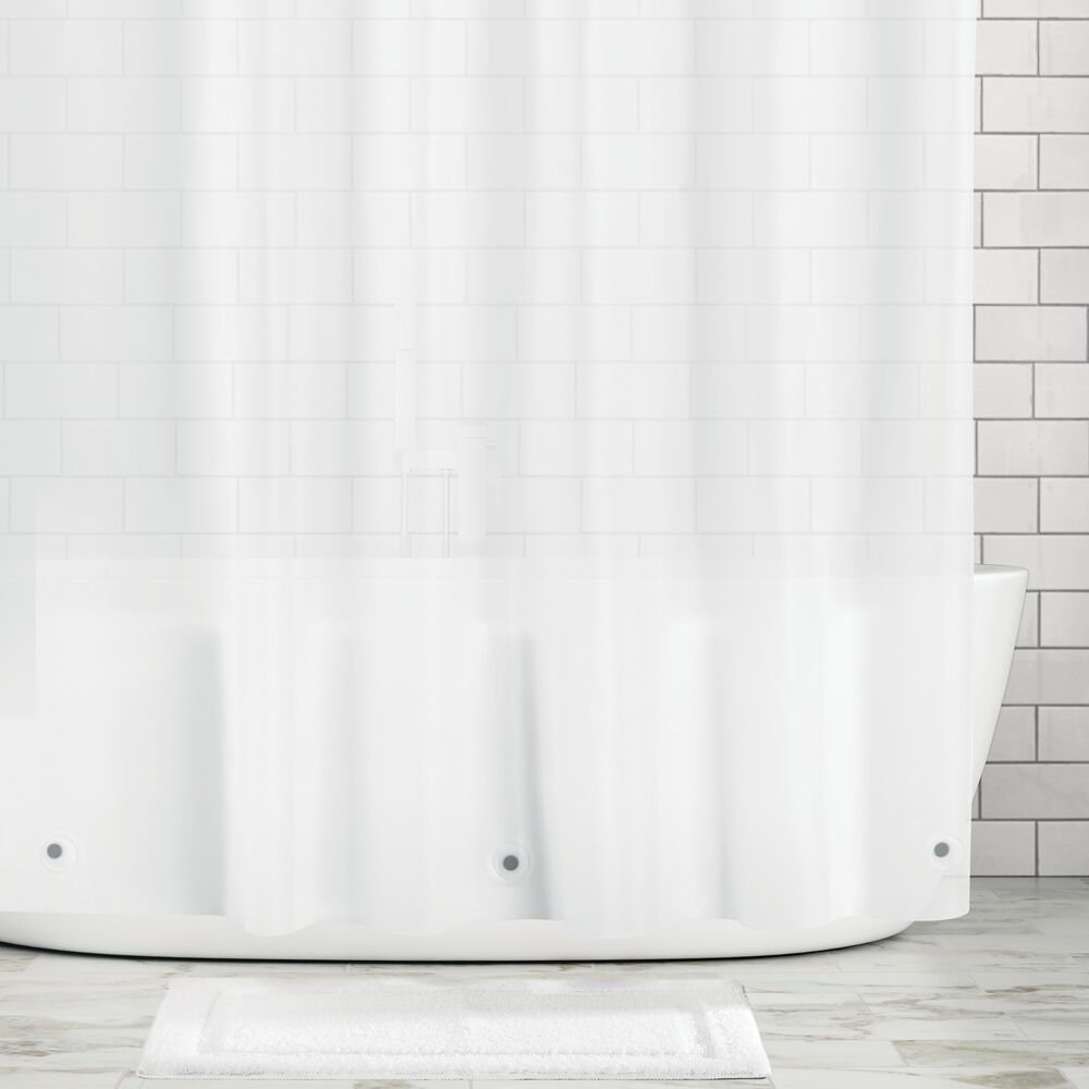 mDesign STALL SIZED Waterproof, Mold/Mildew Resistant, Heavy Duty Premium Quality 10-Guage Vinyl Shower Curtain Liner for Bathroom Shower Stall and Bathtub - 54