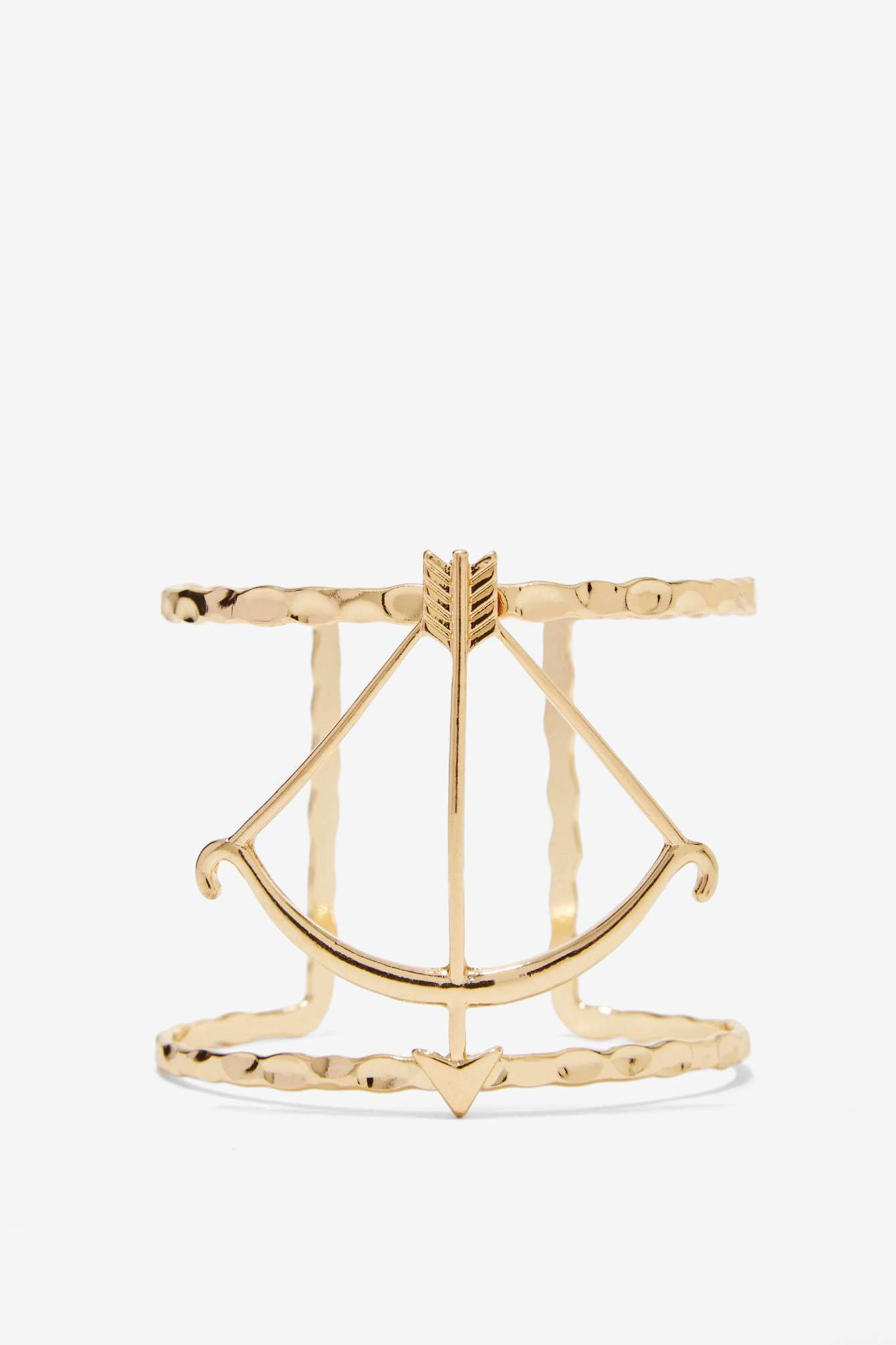 Get to Bow Me Metallic Cuff | Shop What's New at Nasty Gal