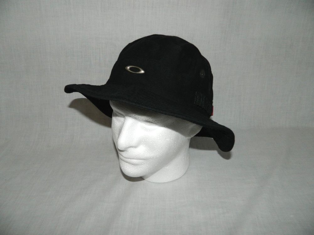 320c987c86f Oakley O Black Bucket Fishing Boonie Sun Hat One Size 100% Cotton Vented   Oakley  BucketHat