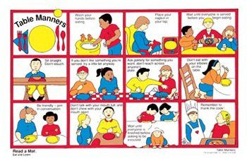 image about Table Manners for Kids Printable identify totally free printable desk manners chart Desk Manners Examine a